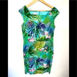 Maggy London Tropical Fan Print sheath dress